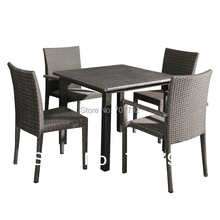 2017 Comfortable Rattan Furniture 5-piece Provence Chairs Dining Table Chairs Set