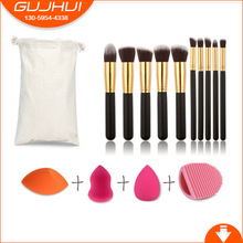 10 Brush Brush Set Set Beauty Egg Puff Brush Tool GUJHUI Manufacturing(China)