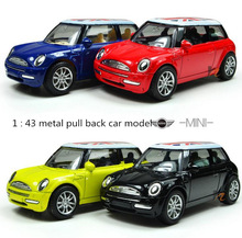 1 : 43 Pull back the British flag high quality metal MINI cars toy, kids best gift, worth buying,Free Shipping