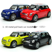 1 : 43 Pull back the British flag high quality metal MINI cars toy, kids best gift, worth buying,Free Shipping(China)