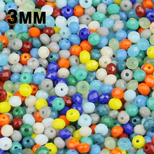 JHNBY 3mm 200pcs Round Shape Upscale Austrian crystal beads Imitation ceramic loose ball necklace Bracelet Jewelry Making DIY