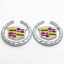 1xCar Styling 3D Car Side Metal Badge Emblem Graphics for Cadillac Decal Sticker SRX ATS CTS XTS Car Accessories Sticker for car