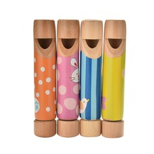 1Pc Colorful Wooden Small Drawing Whistles Diacritical Sliding Flute Toys Educational Music Wood Toys Gift for Boys Girls