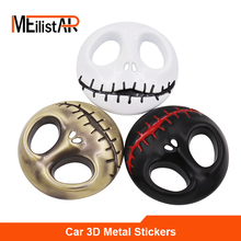 New 1pcs 3D Metal Pumpkin King Car sticker logo Emblem Badge Car Styling stickers For Jeep Bmw Fiat VW Ford Audi Toyota Lada(China)