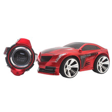 Hot sale R 103 RC Car 2.4G Voice Command RC Car USB charging cable Smart Watch Remote Control Mini Car Toy Flashing Car Red