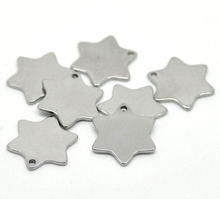 LASPERAL 20PCs Silver Tone Stainless Steel Star Charm Pendants Blank Stamping Tags 20x18mm Fit Necklaces Jewelry Findings(China)