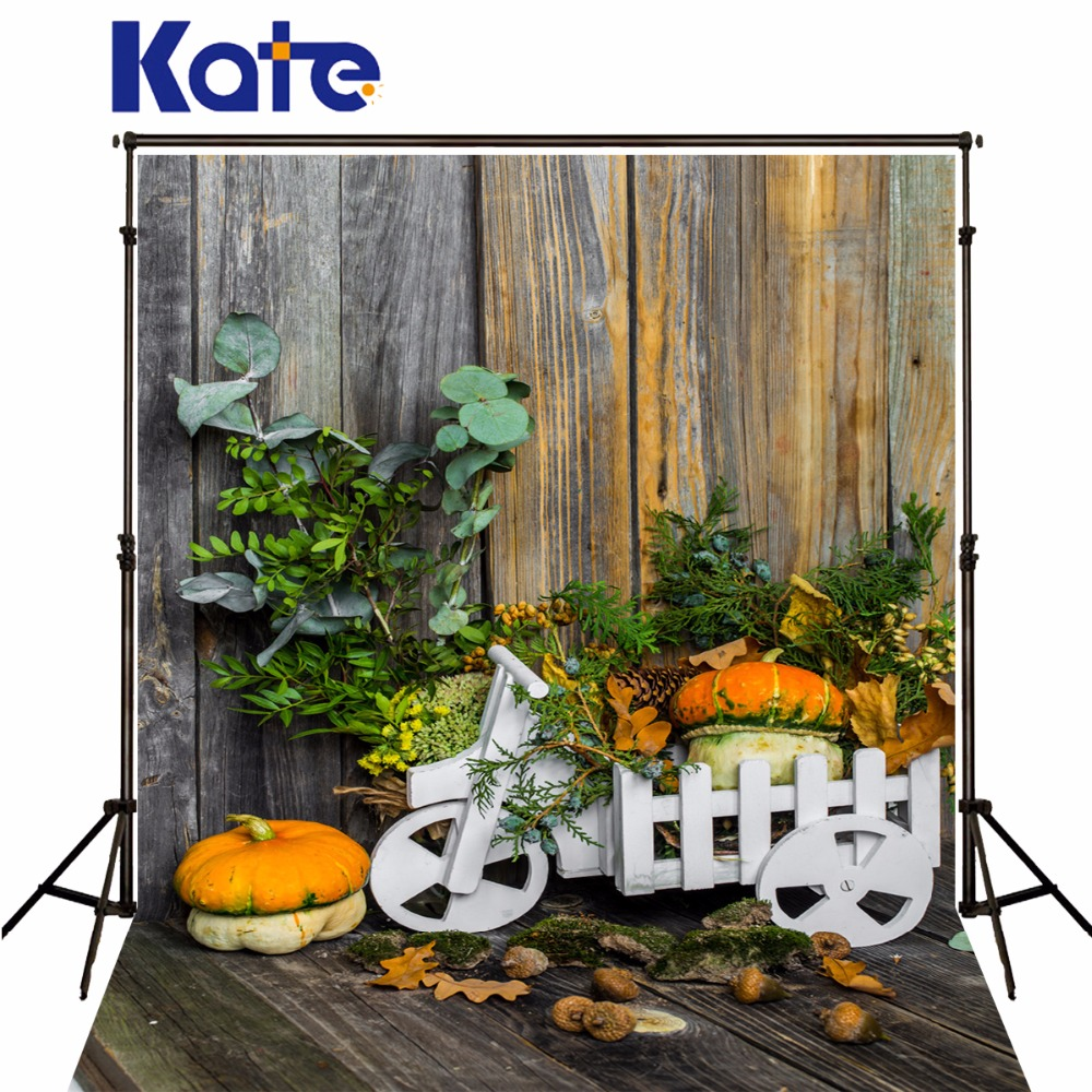 Kate Halloween Backdrops Photography Wood Wall Wood Floor Pumpkin Photo Studio Background For Children<br>