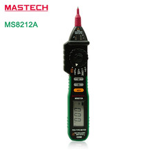 MASTECH MS8212A Pen type Digital Multimeter Mini Tester NCV Non-Contact AC 600V Voltage Ohm Multimetro with 2.7V Diode(China)