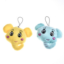 Cute Animal Small Elepant Shape Plush Toys Plush Pendant for Children Bunny Sleeping Bear Stuffed &Plush Animal Toys for Infants(China)