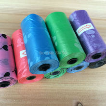 ON SALE 150pcs=10 Roll Dogs Pet Poop Carrier Bag Biodegradable Garbage Bags Pet waste Bags 6 Colors Free Shipping