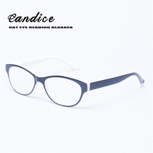 Reading Glasses Women Cat Eye Glasses Retro Vintage Oval Frame Eyewears Spring Hinge Female Presbyopia Glasses