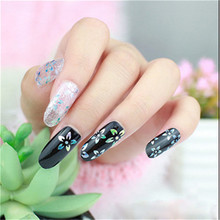 2017 Fashion 16pcs New DIY Nail Wraps Stickers Patch Foils Art Decals Nail Art Decals A#(China)