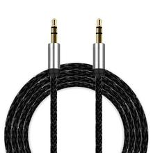 3.5mm Auxiliary Cable Audio Cables Male To Male Flat Aux Cable 3m for For phone/ipod/Macbook/PC/MP3/MP4 May31