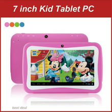DHL Free Shipping 7 inch Cheap Children Kids Tablet PC Quad Core Android 5.1 Dual Camera WiFi