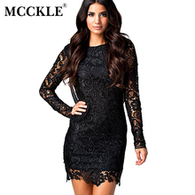 Buy MCCKLE Plus Size Lace Dress Women 2017 Sexy Backless Lace Patchwork Wrapped Dresses Evening Party Ladies Long Sleeve Vestidos for $9.90 in AliExpress store