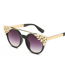 Maskros New Fashion Flower Frame Mirrored Sunglasses for Women 2017 Female Long Nose Pink Sun Glasses Ladies Star Goggles UV400
