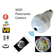 1.3MP 2.0MP wifi Panoramic 360 degree camera Wireless Light bulb Fisheye Camera cctv Smart Home 3D VR Security Bulb wifi camera(China)