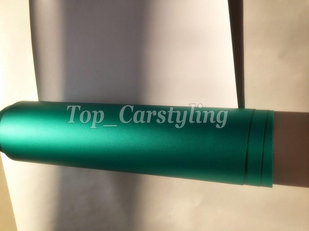 mint green tiffany Matt chrome vinyl car wrap film satin chrome foile (1) -