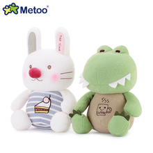 Original Metoo high quality plush cuddly toys Crocodile,hippo,rabbit,cat,soft stuffed dolls for girls and boys baby toys gifts(China)