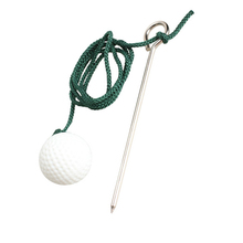 New High Quality 1 Piece Sport Golf Plastic Practice Ball Training Balls with Steel Rope(China)