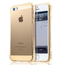 Anti shock Air Sac case for iPhone 5 5S 5SE clear transparent cover shell the best protection design soft TPU silicone material