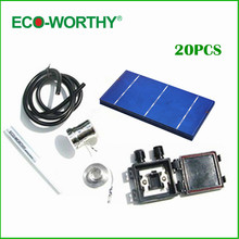 20 Pcs 3x6 Polycystalline Solar Cell Solar Cell Kit DIY Solar Panel for 12v Battery