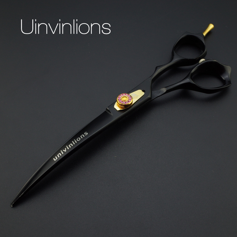 7 univinlions VG10 professional dog shears dog grooming scissors set grooming tools for dogs curved scissors pet shears groomer<br>