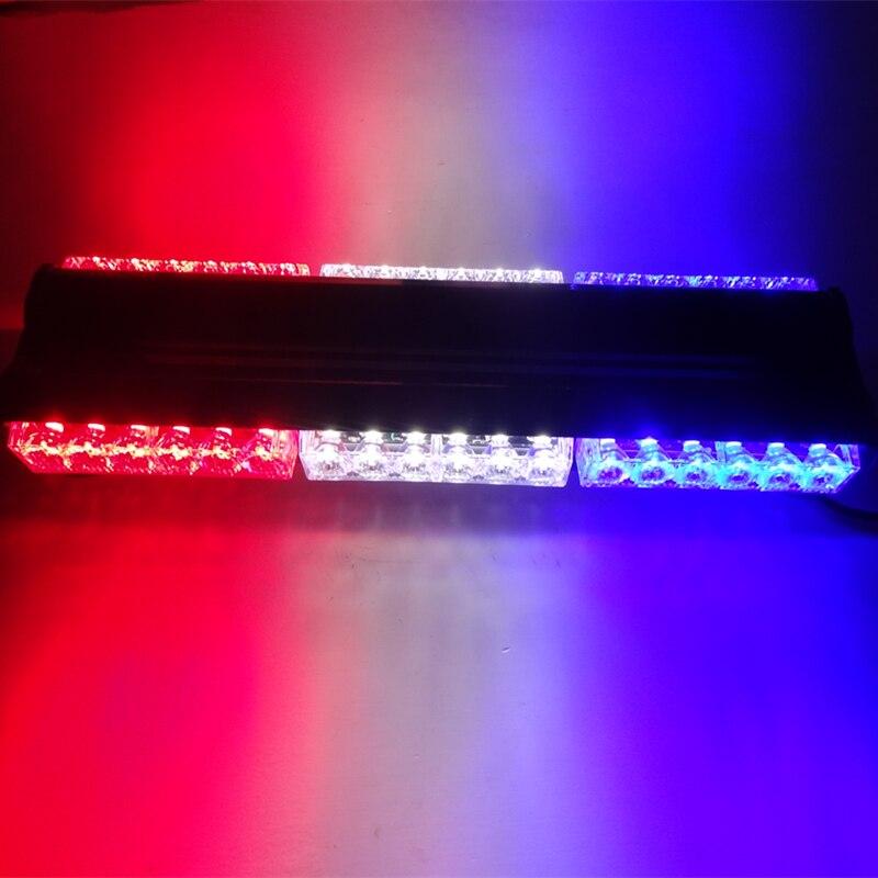 36LEDs Long Row Car Police Light/Mini Ceiling Light Strobe Beacon/Double Row Warning Light/High Duty Magnetic Emergency Lightbar<br>