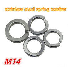 100pcs m14 304 stainless steel a2 - 70 spring washer / gasket split lock washer / shim elastic washer(China)