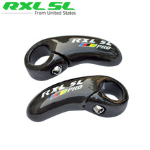 RXL SL Mountain Bike Bar Ends Carbon Black Bicycle Handlebar Horn Small Auxiliary Handlebar UD Glossy MTB Ergonomic Bar End(China)