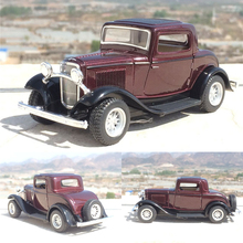 High quality high simulation 1:32 alloy pull back car,2 open door ,Ford 1932 classic car toy,free shipping