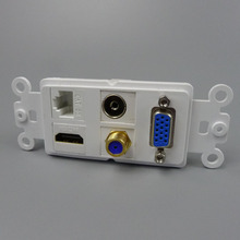 new style VGA + F head + RJ45 + HDMI +TV Wall plate support free design