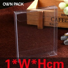 10 pcs/lot 1*W*H cubic  packaging boxes / plastic container / retail / chocolate box / candy box / gift package / PVC boxes