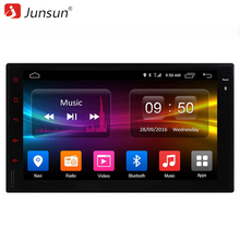 Junsun 2 Din Car DVD Vedio Player 7 inch Android 6.0 GPS Navigation 4G Network Universal for golf 1024*600 2G RAM Free map(China)