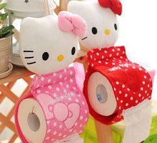 Super Sweet 2Colors- 31*13CM Hello Kitty Home Tissue Pouch & Bathroom Tissue BAG Case Container , Roll Paper Napkin BOX Case