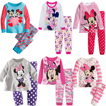 New Fashion Kids Sets Long Sleeve Soft Cotton Children Mickey Mouse Minnie Pajamas Autumn and Winter Boys and Girls Underwear(China)