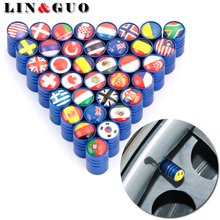 4pcs/lot Car Wheel Tires Valve Cap dust covers auto Motorcycle Accessories For UK Russia Italy Spain Germany Japan Ukraine Flag(China)