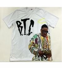 Real American size Notorious BIG 3D Sublimatin print  high quality T-shirt Custom Made Clothing plus size