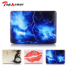 TopArmor Sky Lightning Case For Apple Macbook Air 13 Case Air 11 Pro 13 Retina 12 13 15 Laptop Bag perfect Print Pattern