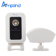 Wireless Split Welcome Motion Sensor Alert Alarm System Doorbell Door Bell with Receiver and Transmitter Home Office Security(China)