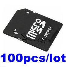 free shipping Micro SD / Micro SDHC / TF Memory Card to SD Card Adapter Converter for camera wholesale 100 pcs/lot