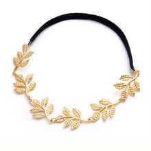 YouMap Fashion Tiara Noiva Metal Gold Chain Flower Leaf Hairband For Wedding Bridal Hair Accessory Women Forehead Jewelry