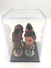 4pc/Lot Soccerwe Stand Randomly Pirlo Ramos Messi Figure Display Box Choose Transparent Acrylic(China)