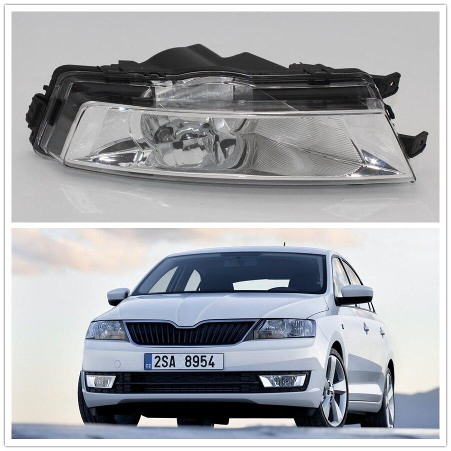 Left Driver Side For Skoda Rapid 2013 2014 2015 2016 2017 Car-styling Front Halogen Fog Light Fog Lamp <br>