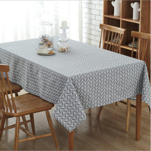 European Retro Plaid Cotton&Linen Table Cloth Plaid Printed Rectangular Table Cover For Wedding Hotel Banquet Decor Tablecloths(China)