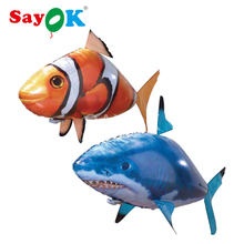 Air Swimming Fish Toys Drone RC Shark Clown Fish Balloons Nemo Inflatable with Helium Plane RC Toys and Gift(China)