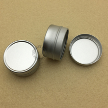 (50pieces/lot) 5g Aluminum Jar 5ml Cosmetic Container tin empty sample mini Aluminum tin lip balm jar