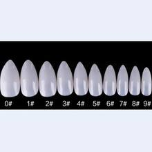 600pcs full&sharp type DIY false nail tips natural color artificial nails shield sticker as manicure beauty nail art salon tool(China)