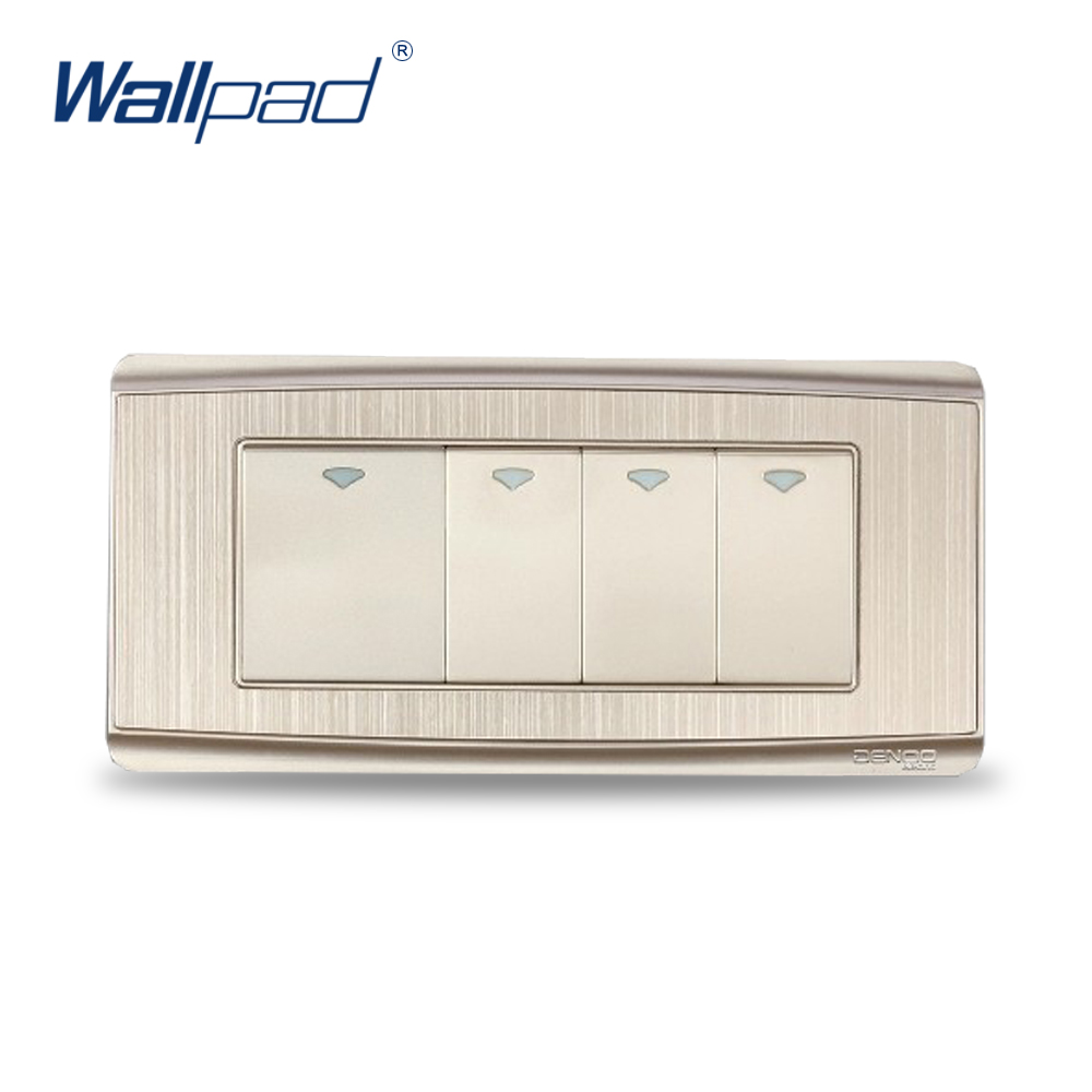 Free Shipping 2017 Hot Sale China Manufacturer Wallpad Luxury Push Button Wall Light Switch Magnesium Alloy Panel 4 Gang 2 Way<br><br>Aliexpress