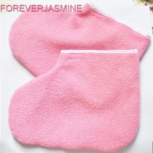FOREVERJASMINE 1pair Paraffin Wax Protection Leg Foot Gloves for Warmer Wax Heater Professional Mini SPA Pedicure Sock